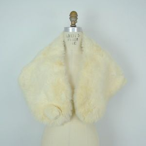 Vintage Rabbit Fur Shawl Wrap Stole